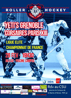 Roller hockey Elite Grenoble vs Paris 28/02/2015