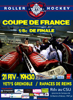 Roller Hockey Coupe de France 1/8 de finale Grenoble Elite vs Reims N1 21/02/2015