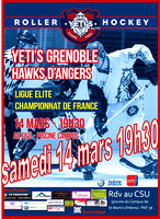 Roller hockey Elite Grenoble vs Angers 14/03/2015